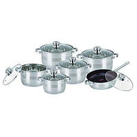 Bohmann Комплект посуды 12пр ковш1.9-кастр2/3,6/6.3/7.7л tp 1275NTF-BH
