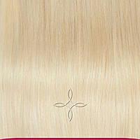 Натуральные европейские волосы на заколках 55 см 120 грамм, Светлый блонд №60