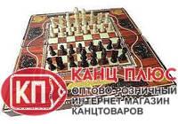 Шахматы и нарды из дерева, в футляре из дерева, лакированный арт. W5009E