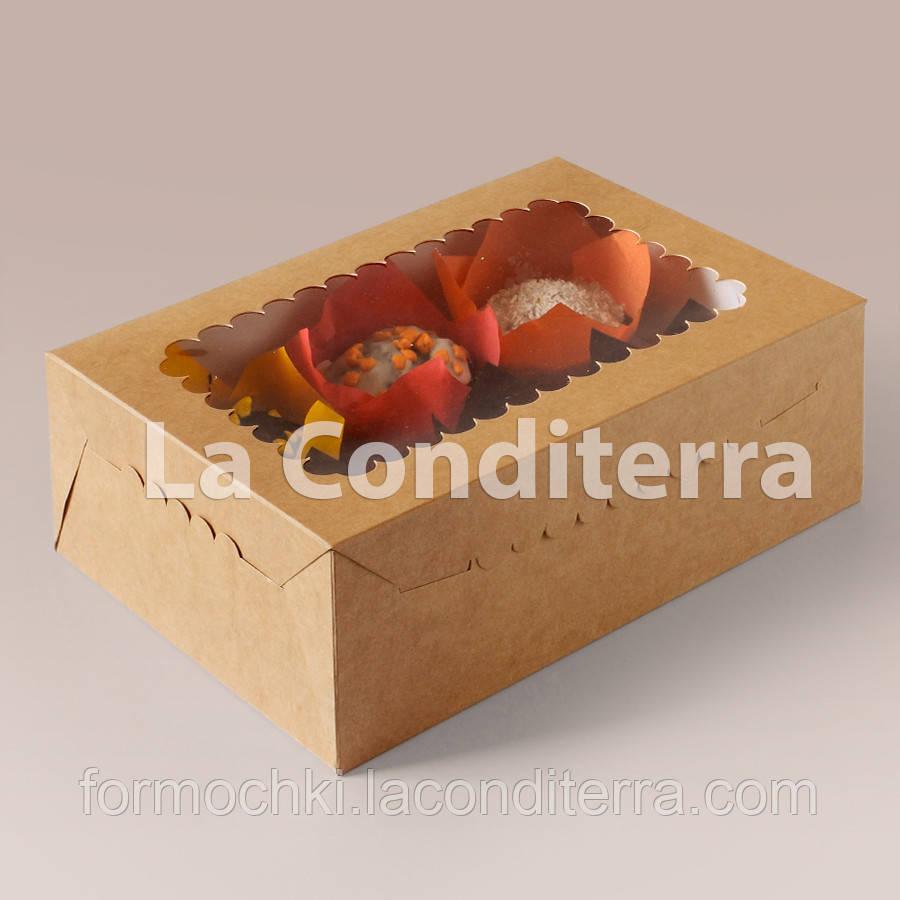Коробки для капкейков, маффинов и кексов (255x180x90 мм)