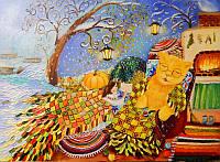 «Осенняя сказка» картина маслом