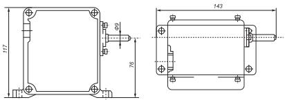 Габаритные размеры концевого выключателя ВУ150