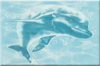 Плитка декор настенная БерезаКерамика ЛАЗУРЬ 25 x 35  дельфин