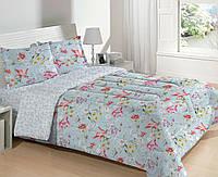 Двухспальный набор постельный (рисунок голубой)