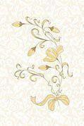 Плитка декор настенная Карамель 200 x 300 матовая рельефная бежевый Д70311