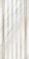 Плитка декор настенная Каррара 300 x 600 рельефная люстр глазурь белый Е50301