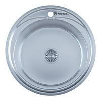 Мойка кухонная IMPERIAL 490 круглая полированная с сифоном