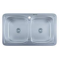 Мойка кухонная IMPERIAL 790 x 480 двойная полированная с сифоном