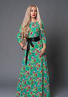 Платье женское из ткани трикотаж-отто от производителя
