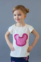 Детская футболка для девочки, белая футболка