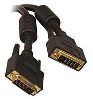 Кабель DVI-D-DVI-D шнур 2 ферит. 1,5 м #100073