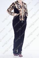 Спортивный костюм батал с леопардовым принтом