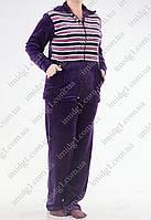 Батальный спортивный костюм фиолетового цвета