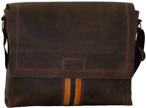 Мужская практичная сумка коричневая из натуральной кожи VATTO MK34Kr450