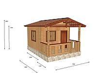 Строительство домов из профилированного бруса с верандой 3,5х5 , фото 1