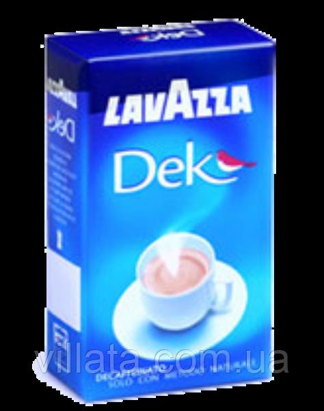 Кофе молотый без кофеина Lavazza Dek Decaffeinato Италия Лавацца без кофеина (серая пачка)