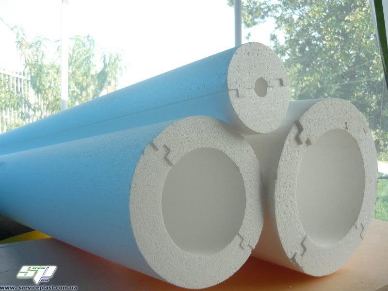 Утеплитель для труб, теплоизоляция труб, скорлупа из пенопласта