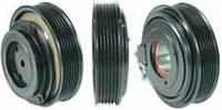 Шкив компрессора кондиционера в сборе Sanden PXE16 (Opel / SAAB) 120mm/6pk 12V