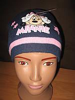 Детская демисезонная шапка для девочек Minnie Mouse р.52, 54