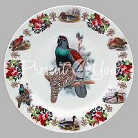 Тарелка декоративная «Охота. Глухарь», d-18 см.