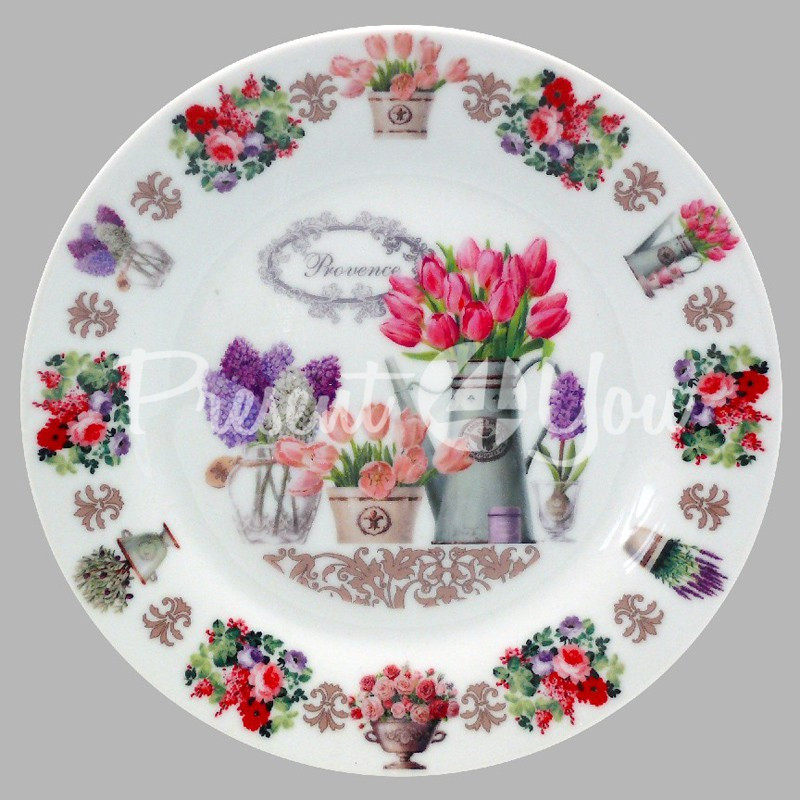 Тарелка декоративная «Прованс. Тюльпаны», d-18 см.