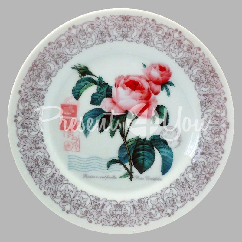 Тарелка декоративная «Прованс. Роза», d-18 см.
