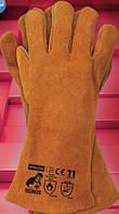 Защитные перчатки  WELDOGER. Перчатки для сварщиков спилковые, фото 1