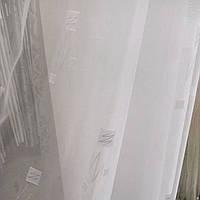 Тюль органза белая с рисунком
