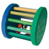 Погремушка Grimms Роллер сине-зеленый с колокольчиком