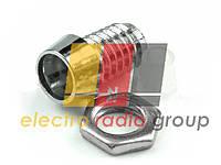 Держатель светодиода  3мм E-411(металл. с гайкой)
