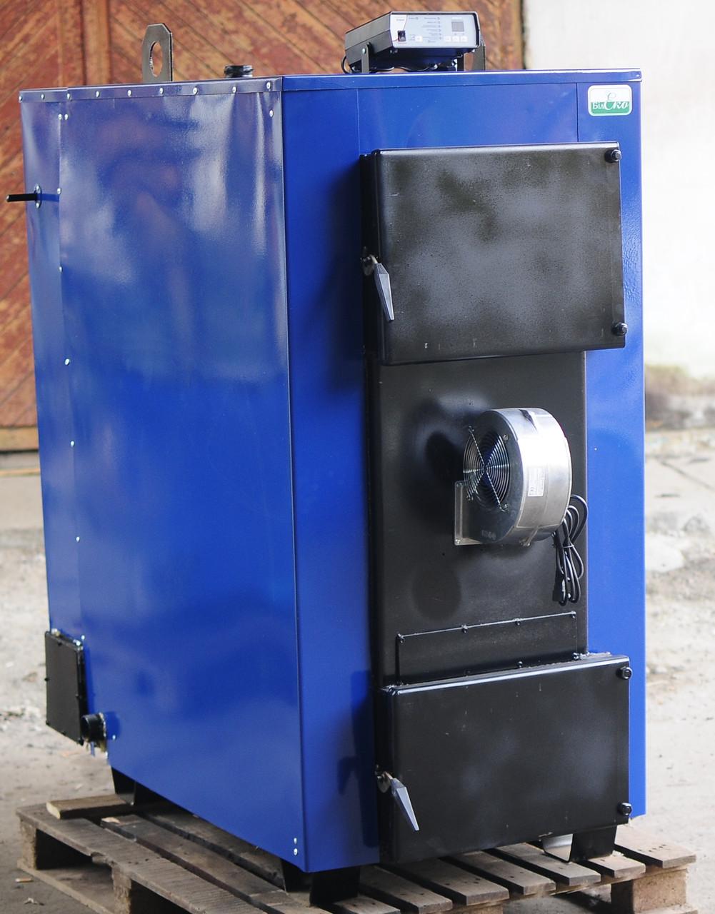 Котел БілЕко-100 з водяною рубашкою в димоході на дровах