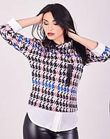 Деловая блузка в красивый принт