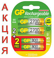 АКЦИЯ! Экономьте 40 гривен при покупке набора аккумуляторов GP!