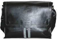 Сумка практичная мужская из натуральной кожи через плече черная VATTO MK34Кaz1Z2
