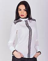 Элегантная креп-шифоновая блуза