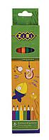 Карандаши цветные STANDARD ZiBi 6цв