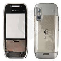 Корпус для Nokia E75 - оригинальный (серебристый)