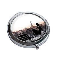 Зеркальце карманное Рассвет над Парижем