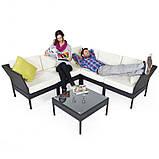 Модульний куток, диван з штучного ротангу, фото 5