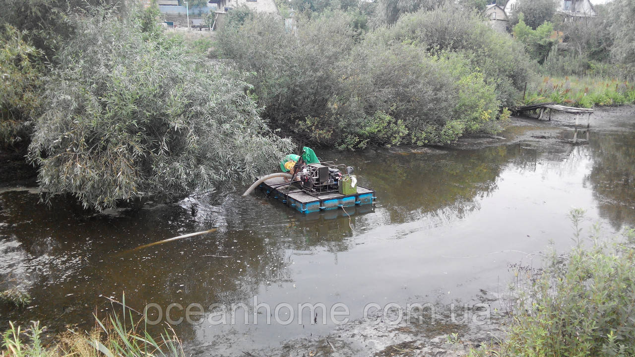 Очистка водоемов от ила