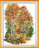 Осенние берёзы Набор для вышивки крестом  канва 14ст