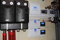 колектора 12 шт. на басейн та ГВП, тепловий насос 2 шт. повітряні по 15 кВт на опалення