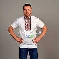 "Футболка вышиванка белая ""красный ромб"" KRAYKA, фото 2"