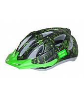 Шлем детский Green Cycle FAST FIVE размер 50-56см черно-зеленый, фото 1