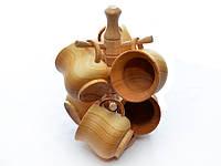 Набор деревянных чашек, фото 1