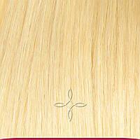 Коса прицепная из натуральных волос 55 см №22 Пшеничный Блонд