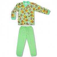Детская пижама с манжетами на штанах, на рост - 86, 98, 104, 116, 122 см. (арт: 9-34_5)
