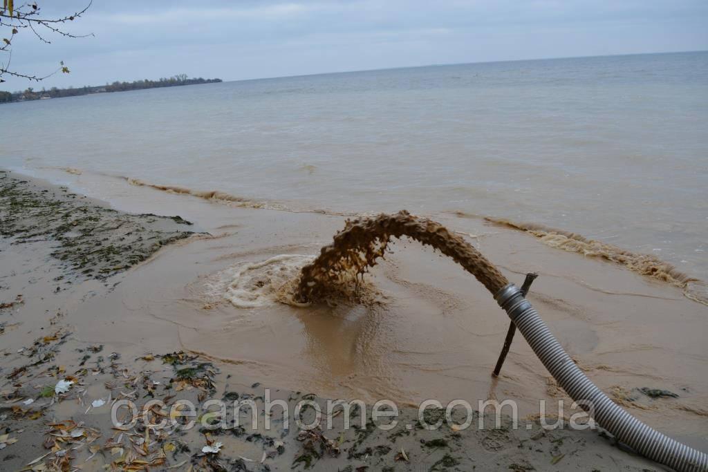 Намыв песка киев