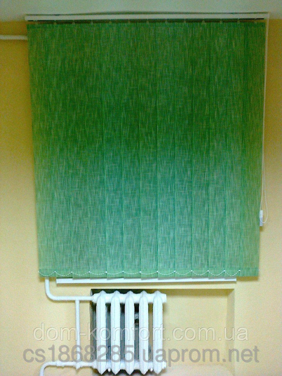 Тканевые вертикальные жалюзи шантунг похожие на Лён