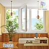 """Пластиковая трехстворчатая лоджия Rehau Ecosol-Design Киев 3000x1450 """"Окна Маркет"""""""
